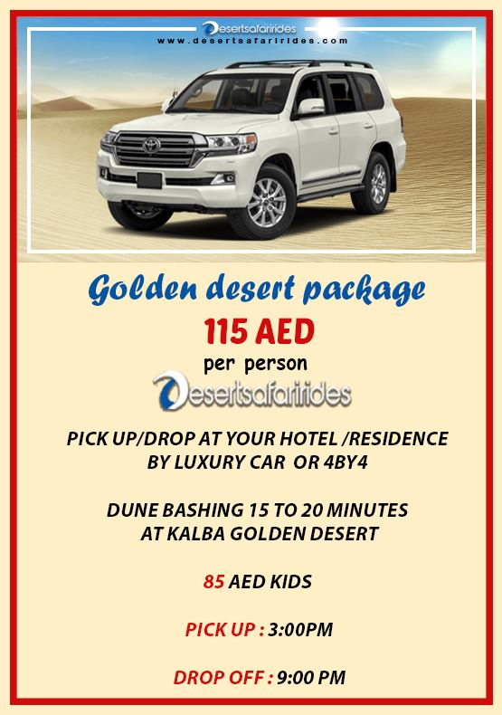 golder desert safari package